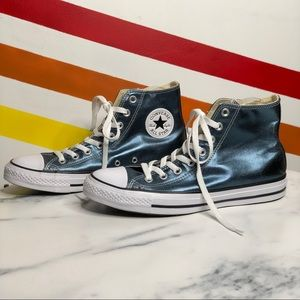 NEW Converse metallic high top sneakers